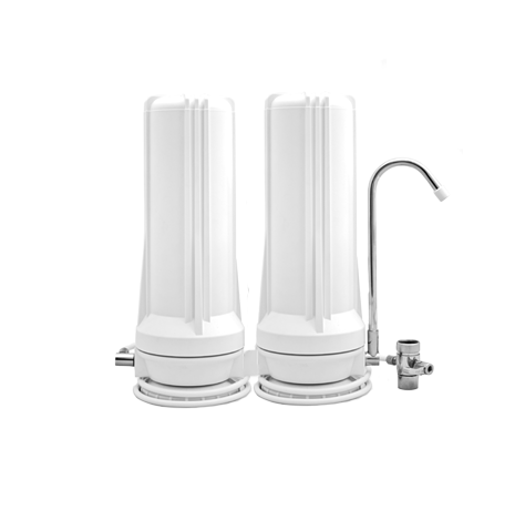 CuZn CT-2KS Spout Model Countertop Water Filtration System