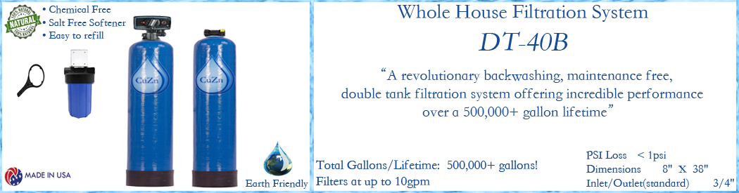 Cuzn Model Dt 40b Whole House Water Filtration System