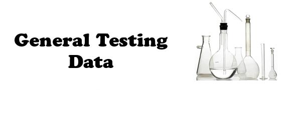 General Testing Data